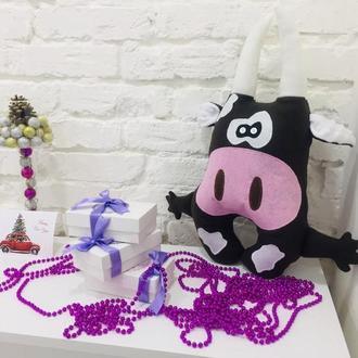 бык подушка-игрушка сплюшка-корова подушка-декор в детскую