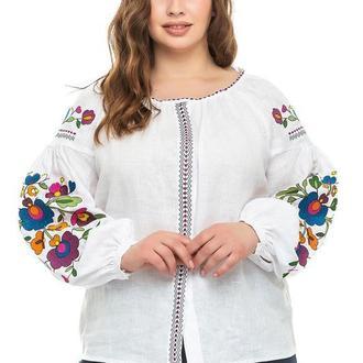 Блуза женская Дана (лен белый)
