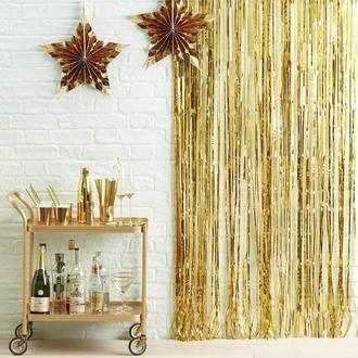 Фотозона шторка з фольги золото