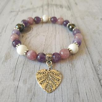Жіночий браслет з натурального каменю Ж19 17