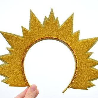 Корона солнце Обруч к костюму солнышко Новогодний ободок