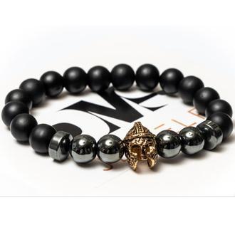 Браслет мужской DMS Jewelry из шунгита, гематита KNIGHT