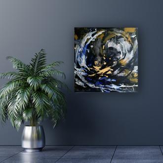 """""""Перемены вокруг"""" современная абстрактная картина для лофт интерьера"""