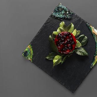 Сланцевое блюдо «Изумруд»