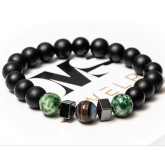 Браслет мужской DMS Jewelry из шунгита, гематита, агата HARMONY of AGATE