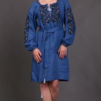 Женское вышитое платье Этно