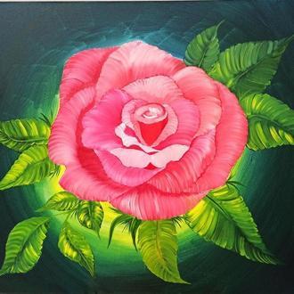 "Картина маслом ""Троянда"""