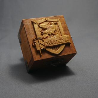 Ravenclaw - Гарри Поттер/Harry Potter - Музыкальная деревянная шкатулка, шарманка.
