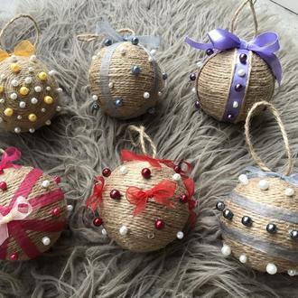 Набір новорічних ялинкових кульок