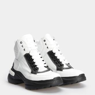 Женские белые кожаные ботинки Pavlina 257-247-0023