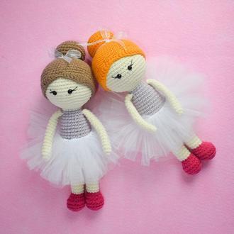 Вязаная куколка балерина. Вязаная игрушка. Подарок девочке. Подарок новорожденному. Декор.