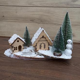 Новорічна різдвяна композиція на стіл, подарунок на новий рік