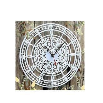 Часы резные Ажур 28х28 см с римскими цифрами