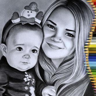 Портрет карандашом по фотографии на заказ