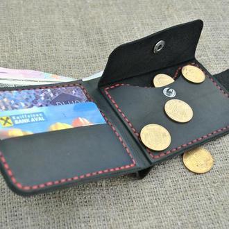 Карманный бумажник из натуральной кожи K29-0+red