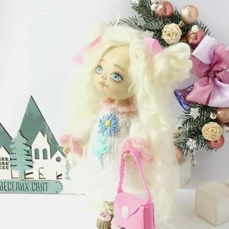 Кукла текстильная игровая из хлопка волосы  козочка.