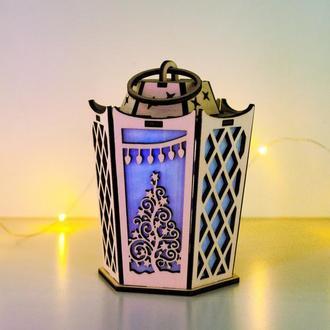 Рождественский светильник - старинный фонарь Новогоднее чудо