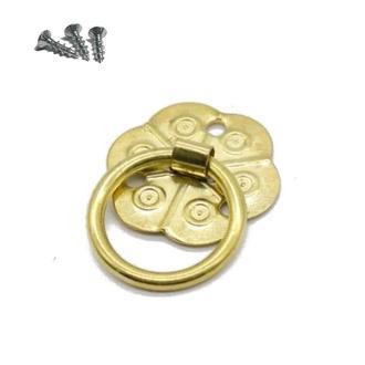 Заготівля для Бизиборда Ручка з Кільцем 2 см Золота для дверцят віконець двері для Бизикубика