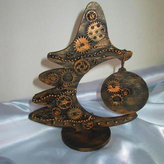Новогодняя декоративная елочка в стиле Стимпанк (Steampunk)