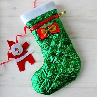 Сапог, чулок, носок рождественский, новогодний, різдвяна шкарпетка для подарунка