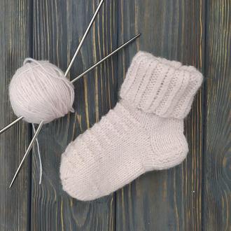 Детские вязаные шерстяные носочки