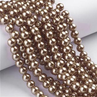 Намистини бронзові скляний перли 8мм 100 шт