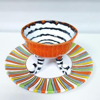 Набор пиала и тарелка Сет 8