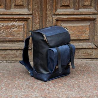 Кожаный рюкзак для путешествий. Спортивный рюкзак