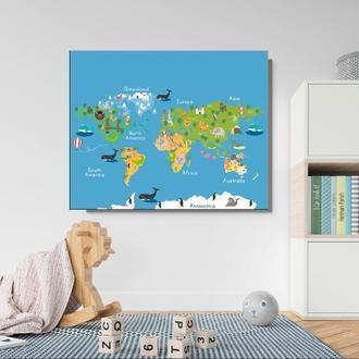 Карта мира в детскую