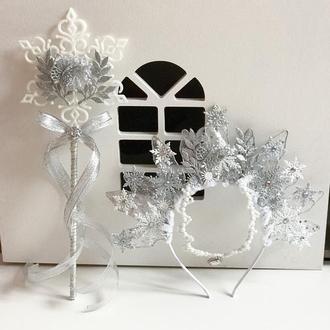 Корона та паличка сніжної королеви, сніжинки 2