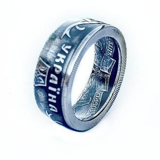 "Кольцо из монеты 2 гривны ""Добро - дітям"""