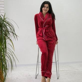 Плюшевые женские пижамы, вариации цветов, размеры от XS до XXL