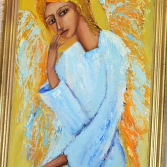 Задумавшийся ангел, размер 20х30см