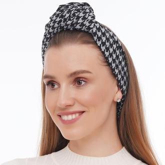 Теплый трикотажный  тюрбан, повязка тюрбан, головной убор, шапка тюрбан, подарок женщине