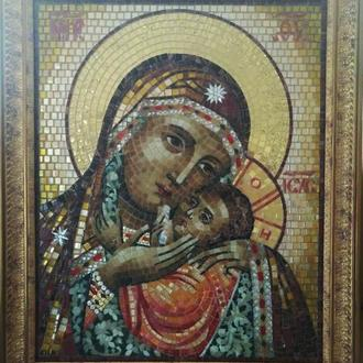 Икона Богоматери из мозаики