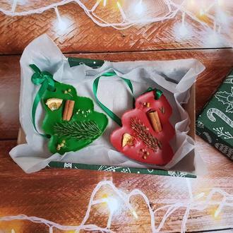 Новогоднее флорентийское аромасаше из воска новогодний декор новогодний подарок
