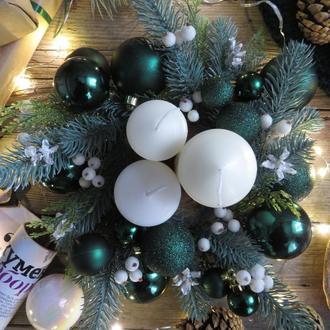 Рождественский венок на стол