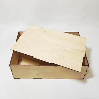 Коробка для подарка из фанеры: 30*20*10 см