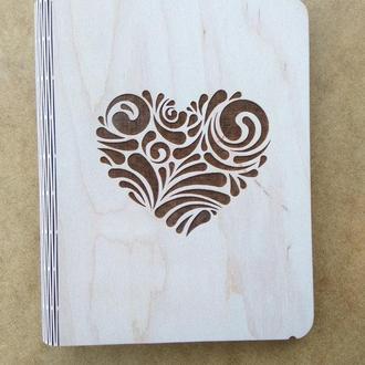 Блокнот из гибкой деревянной обложкой А5
