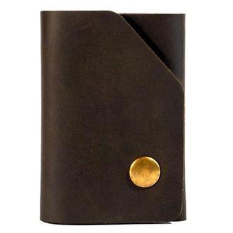 Кожаный кошелек с выдвижным механизмом для карт SMARTY