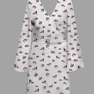 Платье с принтом ANNA TIM
