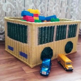 Корзина для игрушек - автобус