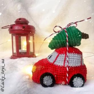 Машинка вязаная новогодняя