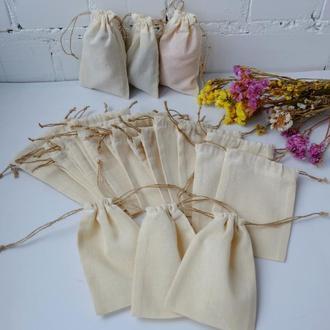 Эко мешочек из хлопка 15*10 см, еко торбочка, тканевой, многоразовый мешок zero weste