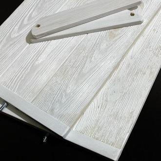 Угловой фотофон деревянный двусторонний белый