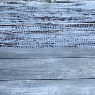 Деревянный фотофон 50x50 коричневый с серым/серый