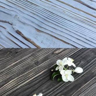Деревянный фотофон 50x60 коричневый /белый с потертостями