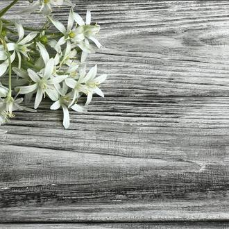 Деревянный фотофон 40x40 темная бирюза с кляксами /белый с черным