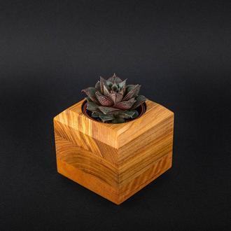 Горшок деревянный под вазон