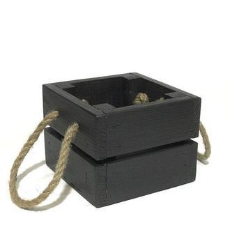 Ящик 11х11х9 темно серый